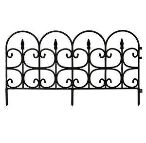 Image Is Loading Plastic Garden Fence Border Decor Panels Fencing Landscape