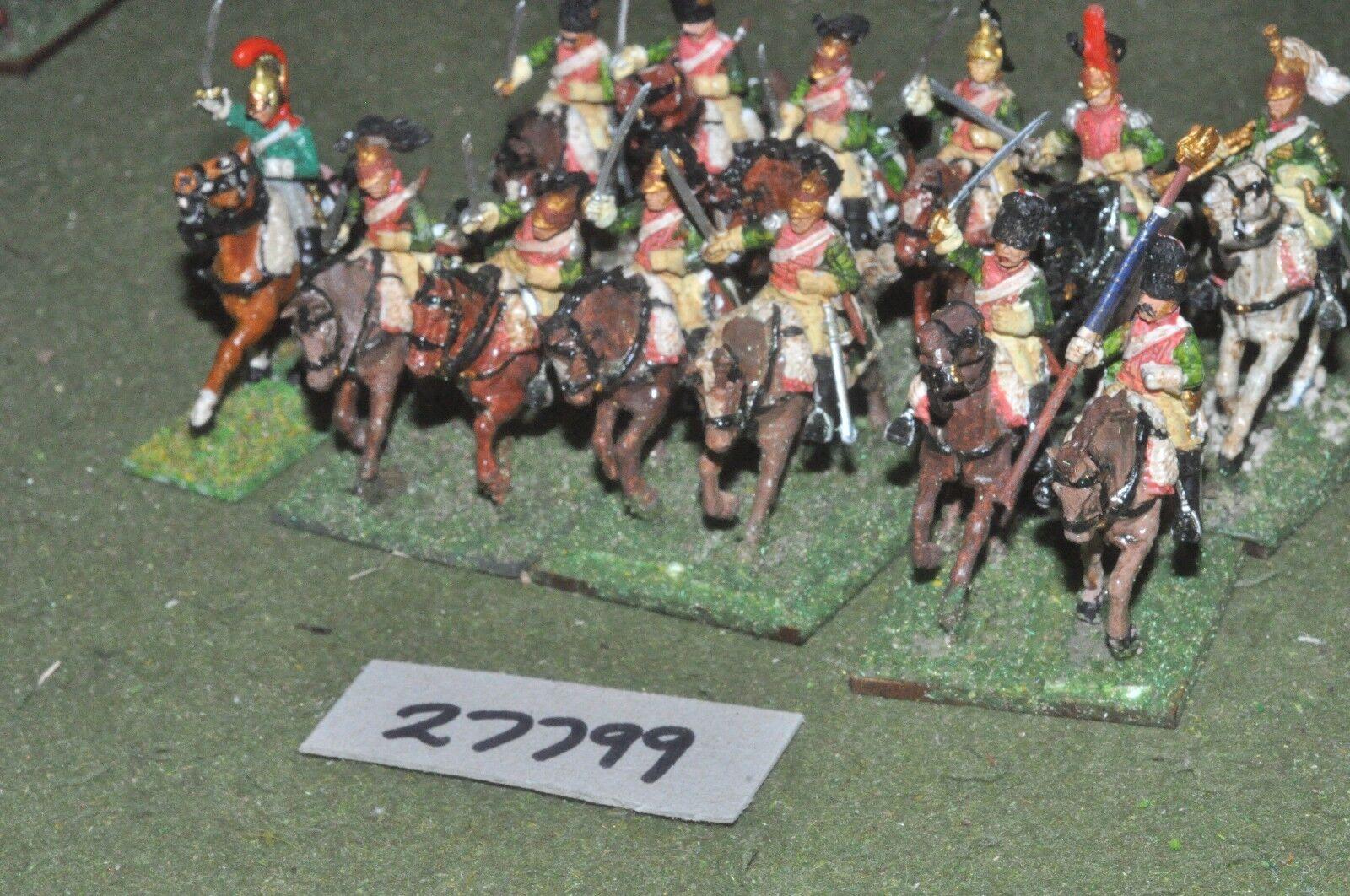 25mm napoleonic   french - dragoons (plastic) 12 figures - cav (27799)