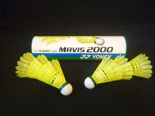 100/% 2 x tubes of 6 Yonex Mavis 2000 Badminton Nylon Shuttlecock GREEN SLOW