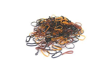 Pack of 250 Small Mini Hair Elastics Rubber Braiding Bands for Dreads Cornrows Braiding by CyberloxShop Black