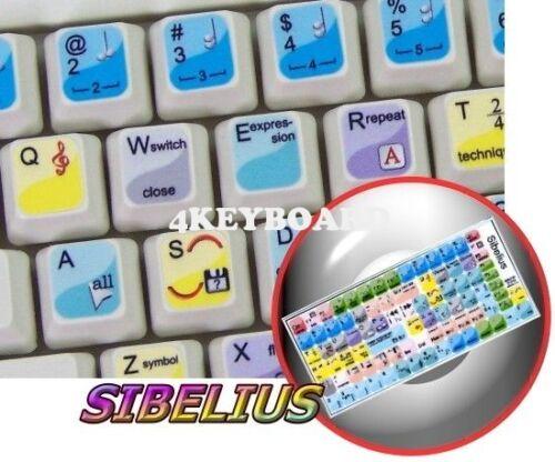 Sibelius keyboard sticker
