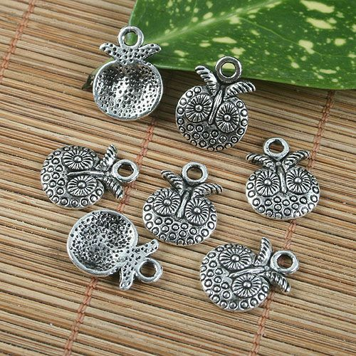 15pcs antiqued silver pattern pendant G1233