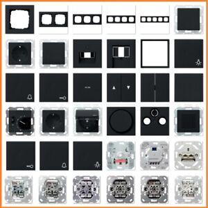 GIRA System 55 E2 Schwarz matt USB Steckdose Rahmen Schalter Wippe Taster