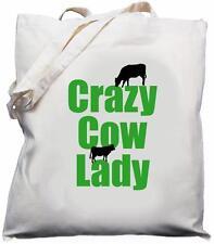 Crazy Cow Lady - Natural (Cream) Cotton Shoulder Bag