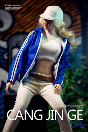 """1//6 Sport Gym Sweat à Capuche Veste Pantalon Set Pour 12/"""" PHICEN TC Hot Toys figure ❶ USA ❶"""