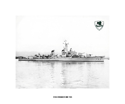 USN Navy Ship Print USS O/'BRIEN DD 725 US Naval Destroyer