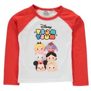 DISNEY-t-shirt-TSUM-TSUM-2-3-3-4-4-5-5-6-7-8-9-10-ans-blanc-rouge-NEUF