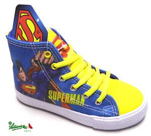 selezione migliore vendita calda online miglior servizio OFFERTA SUPERMAN scarpe bambino sportive tela alte lacci cerniera ...