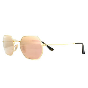 8a8f67de98 Ray-Ban Sunglasses Octagonal 3556N 001 Z2 Gold Copper Mirror ...
