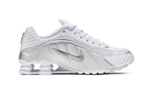 Scarpe-da-ginnastica-Nike-Shox-R4-BIANCO-SILVER-104265-131-UK-9-5