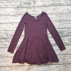 Bethany-Mota-Women-039-s-Long-Sleeve-Cheetah-Dress-Size-Small-S