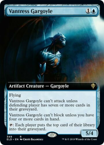 Vantress Gargoyle x1 1x Extended Art Throne of Eldraine NM MTG