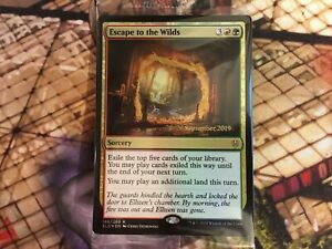 Mtg Escape To The Wilds Throne Of Eldraine Prerelease Foil Sealed Ebay