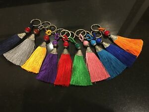 Bohemian-Romance-Pom-Tassle-Key-Ring-Bag-Charm-Keyring-2-Styles