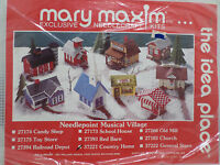 Country Village Musical Village Needlepoint Kit Mary Maxim