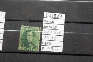 FRANCOBOLLI-BELGIO-USATI-N-13-F41761