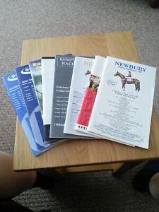 Newbury-and-kempton-horseracing-racecards-8-in-number-1997-amp-1998