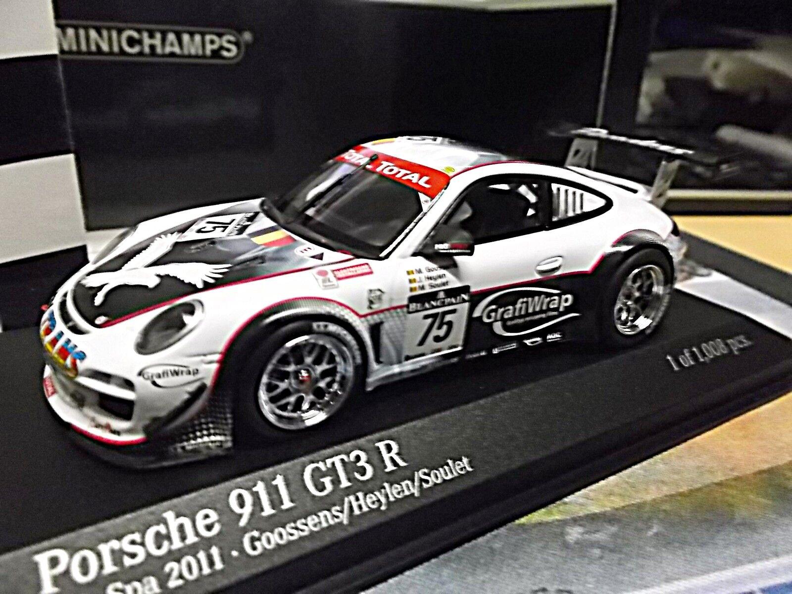 Porsche 911 997 gt3 r 24 spa 2011  75 grafiwrap Goossens soulet Minichamps 1 43