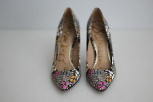 d0c4f844f Sam Edelman  Hazel  Leather Pointy Toe Pump - Retro Floral Print ...