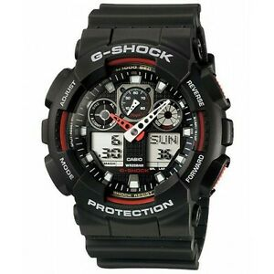 100-Original-CASIO-G-SHOCK-GA-100-1A4-BLACK-DIGITAL-ANALOG