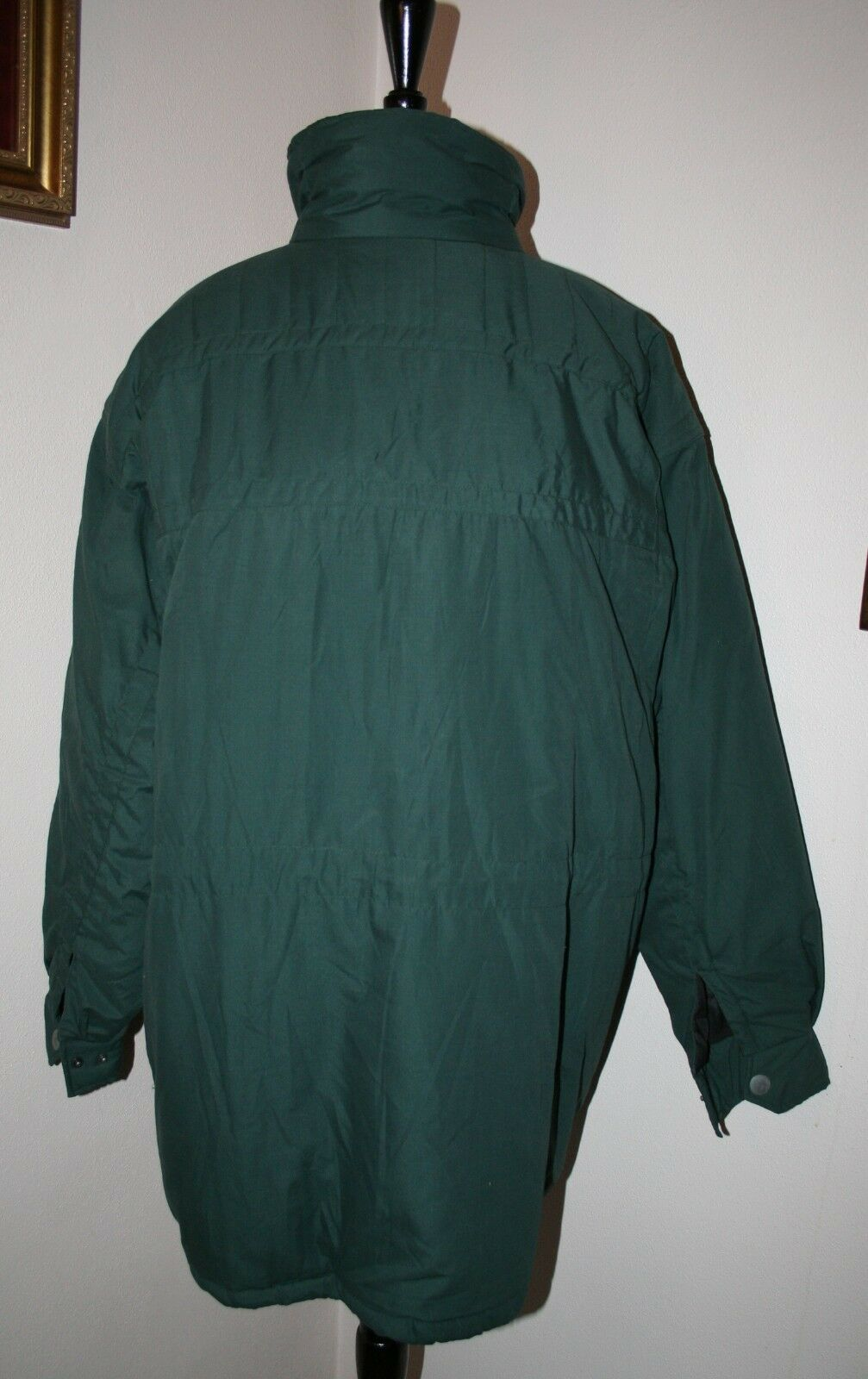 Men's Duffel Coat Parka LARGE Green Threads Unlim… - image 3