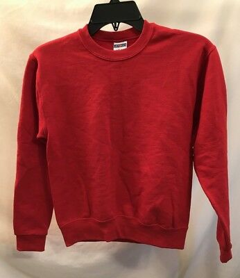 Practical Unisex Size Youth Medium Red Sweatshirt Jerzees Brand Crewneck Preowned
