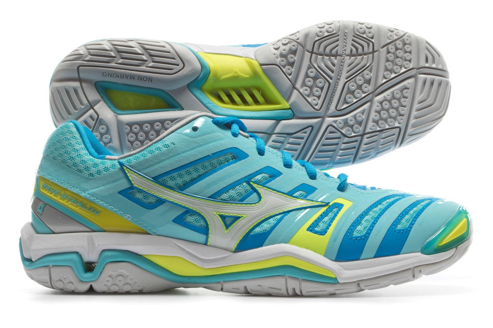 Mizuno Damenschuhe 4 Wave Stealth 4 Damenschuhe Netball Trainers Schuhes Sneakers Sports f36322