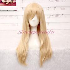 Japan Anime Attack on Titan Krista Lenz Long Blonde Lolita Cosplay Party Wig