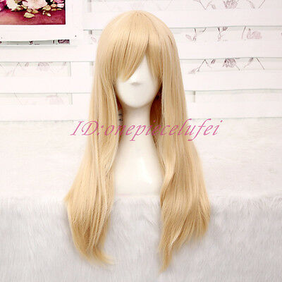 Japan Anime Attack on Titan Krista Lenz Long Blonde Lolita Cosplay Party Wig