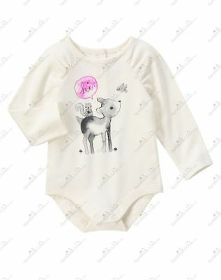 Girls' Clothing (newborn-5t) Baby & Toddler Clothing Nwt Gymboree Cozy Critters Friendly Deer One Piece Body Suit 18-24 Mo Smoothing Circulation And Stopping Pains