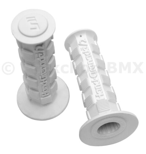 WHITE *MADE IN USA* NEW Air-Uni Hand Grenade 2 old school BMX  bicycle grips