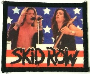SKID-ROW-Old-OG-Vtg-80-90-s-Printed-Patch-Sew-On-NOT-shirt-pin-tour-concert