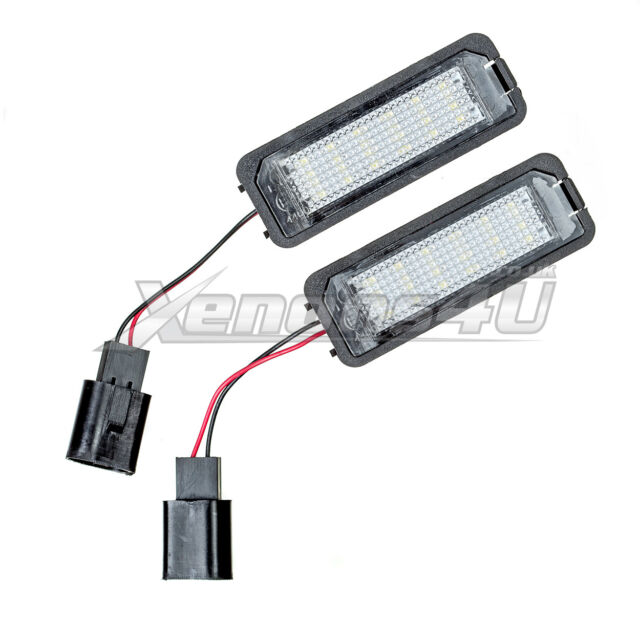 Vw Number Lamps License Plate Assembly 18 Replace Holder Light Oem Led Canbus eW2IH9DYE