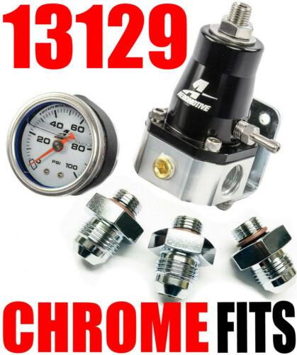 Aeromotive 13129 EFI Bypass Regulator TO 1000 HP combo Gauge 8  great deal look
