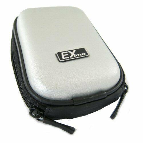 Ex-Pro ® Plata mercenaria cámara caso para Nikon Coolpix S203 S210 S220