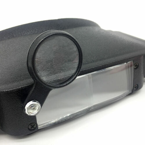 Helmet Magnifying Glass Illuminated Headband Strap Magnifier Light Double Lens