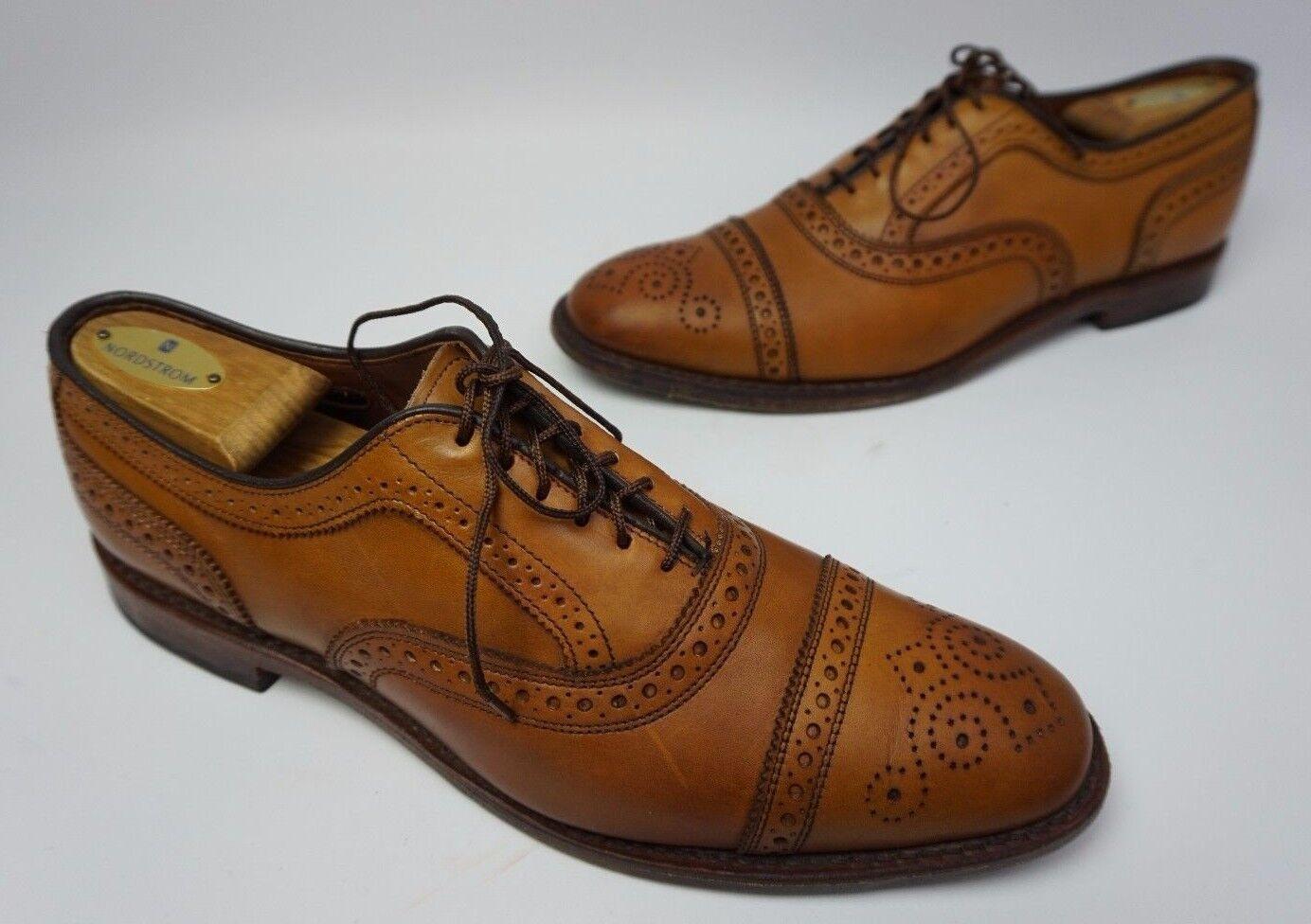 Allen Edmonds Strand Cap Toe Oxford Walnut braun Leather Leather Leather schuhe Größe 10 B  385+ 0c2c83