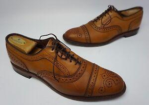 Cuir Casquette Marron Oxford Noix Edmonds Orteil Chaussures Allen Strand De A64x8Z4qPw