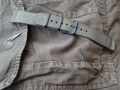 TOUGH GREEN STRAP BAND BLACK BUCKLE  TO FIT SEIKO ARMY MILITARY MOD WATCHBAND