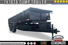 Hydraulic Dump Trailer 7x16 Tandem Axle With 8 Channel Frame 316 Steel