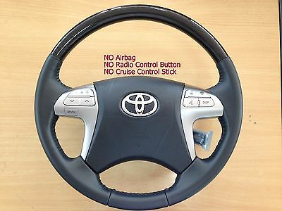 Genuine Toyota Hilux Fortuner 4runner Innova Black Wood Leather Steering Wheel