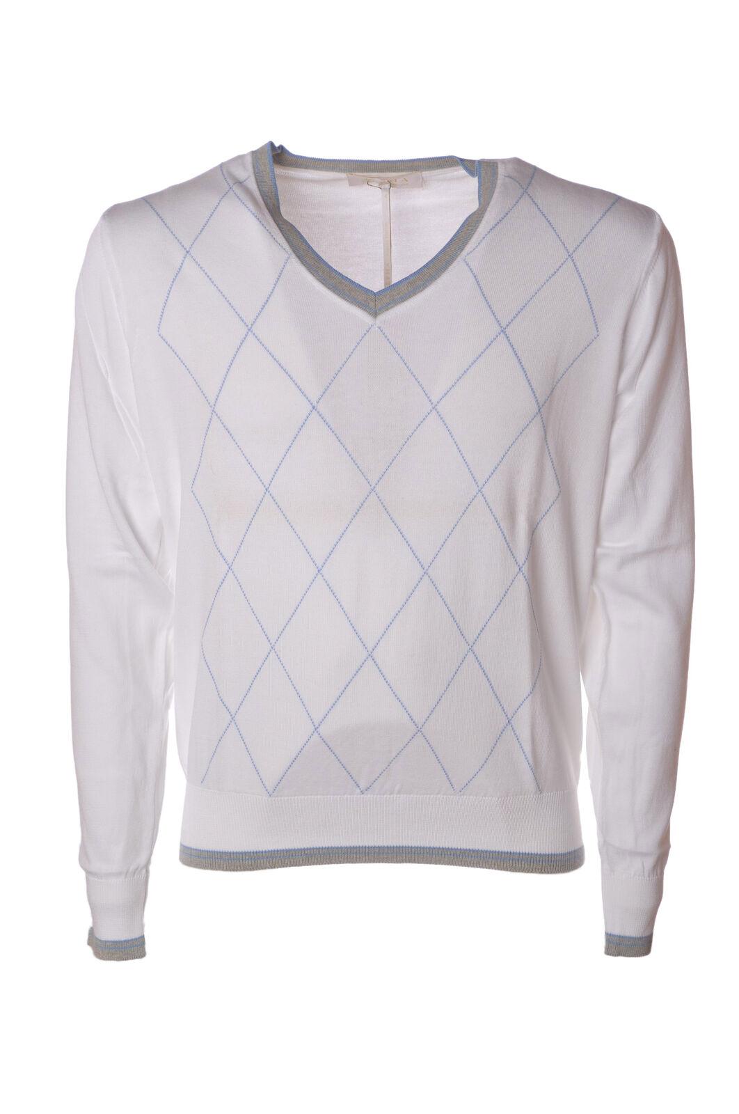 Alpha - Knitwear-schweißers - Man - Weiß - 4625006L190913