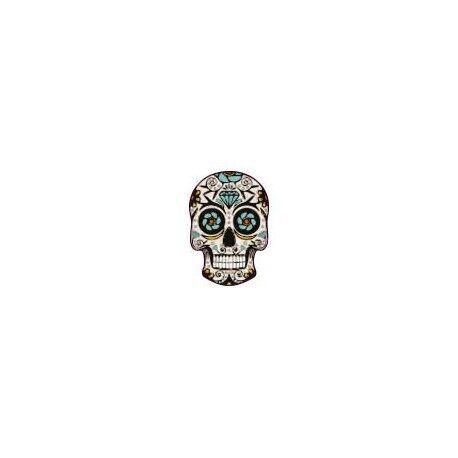 Autocollant Tête de mort muerta 08 skull stickers adhesif Taille:4 cm