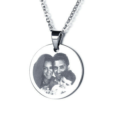 Photo Engraving Custom Couple's Anniversary Stainless Steel Dog tag For Loves