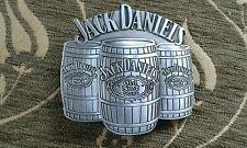 Nuovo di Zecca Jack Daniels Metal Fibbia della Cintura-UK Venditore (Argento)