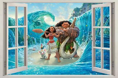 Moana 3D Window Decal Wall Sticker Home Decor Art Mural Disney Princess H711