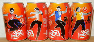 2004 COCA COLA 4 cans RUUD VAN NISTELROOY Soccer set from HOLLAND (33cl)
