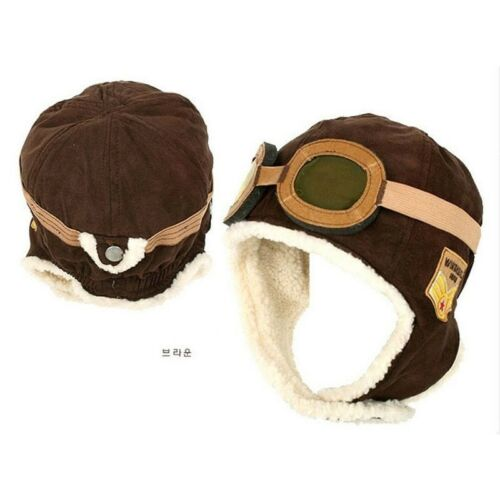 Winter Pilot Hat Baby Beanie Kids-Toddler Chaud Aviateur Polaire doux enfant
