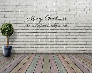 Novita-Buon-Natale-Adesivo-Finestra-di-testo-Personalizzato-adesivo-muro-decorazione-di-Natale