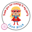 Personalised-Superhero-Girl-Hero-Birthday-Thank-You-Party-Stickers-Sweet-Cones thumbnail 1